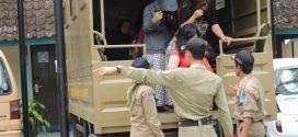 Dengan Menyamar Petugas Satpol PP Berhasil Menjaring Puluhan PSK